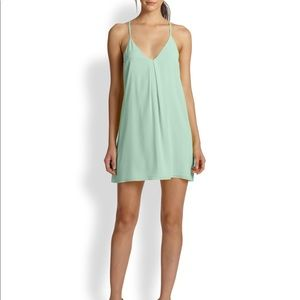Alice + Olivia Fierra silk dress - mint